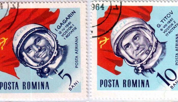 Romanian stamps - Yuri Gagarin and Gherman S.Titov