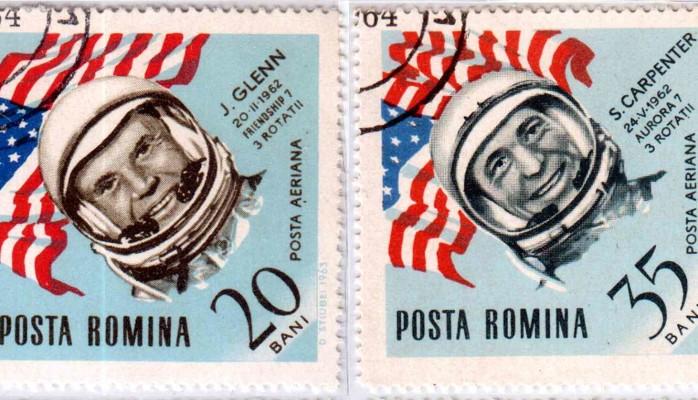 Romanian stamps - John Glenn and Scott Carpenter