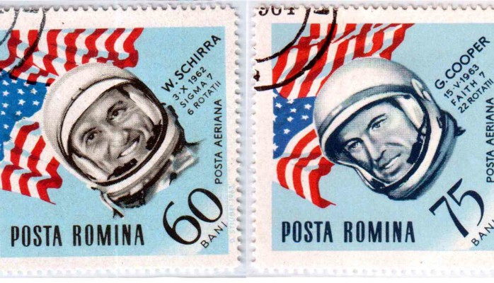 Romanian stamps - Walter Schirra and Gordon Cooper