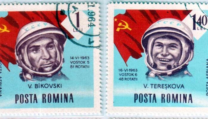 Romanian stamps - Valeri Bykowski and Valentina Tereschkova